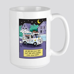 Ice Cream Truck Night Shift Large Mug