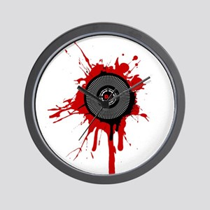 Blood On The Platter Wall Clock