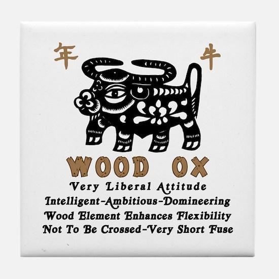 Wood Ox Tile Coaster