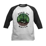 Peas On Earth Kids Baseball Jersey