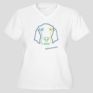 Picasso Weim! Women's Plus Size V-Neck T-Shirt