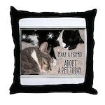 """""""Make a Friend"""" Throw Pillow"""