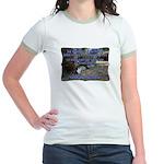 """A Big World"" Jr. Ringer T-Shirt"