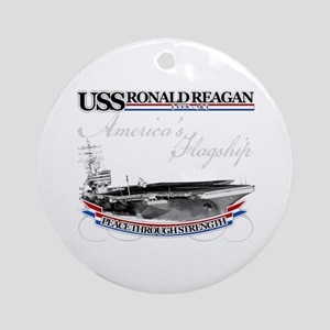 USS Ronald Reagan Ornament (Round)