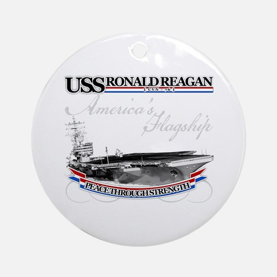USS Ronald Reagan Ornament (Round)