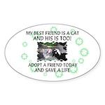 """My best friend"" Oval Sticker"