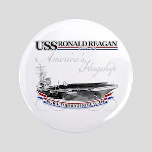 """USS Ronald Reagan 3.5"""" Button"""