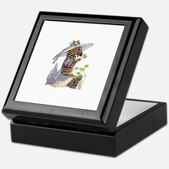 Playful Zebra Keepsake Box