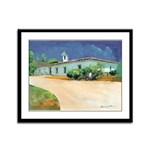 Old Town San Diego Casa Framed Panel Print