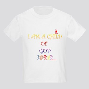I AM A CHILD OF GOD Kids Light T-Shirt
