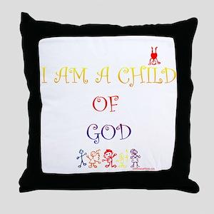 I AM A CHILD OF GOD Throw Pillow