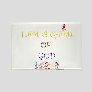 I AM A CHILD OF GOD Rectangle Magnet