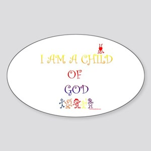 I AM A CHILD OF GOD Oval Sticker