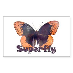 Vintage Distressed Superfly B Rectangle Sticker 1