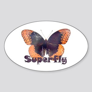 Vintage Distressed Superfly B Oval Sticker