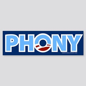 Phony Obama Bumper Sticker