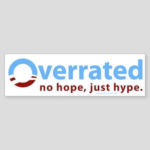 Obama: Overrated Bumper Sticker White