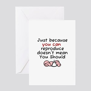 Funny just because greeting cards cafepress just because you can reproduc greeting card m4hsunfo