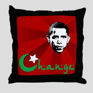 Anti-Obama: Change Throw Pillow