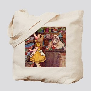 ALICE IN THE SHEEP'S SHOP Tote Bag