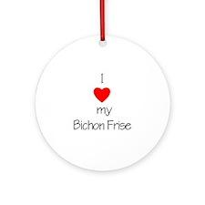 I Love My Bichon Frise Keepsake (Round)