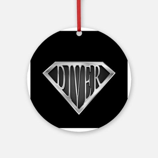 SuperDiver(metal) Ornament (Round)