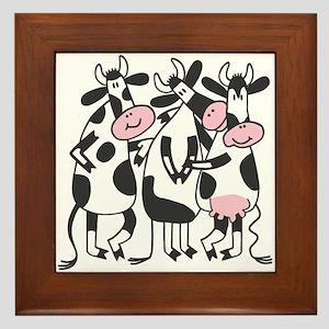 3 Cows Framed Tile