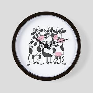 3 Cows Wall Clock