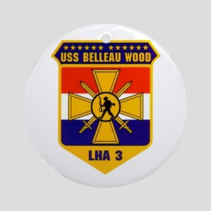 USS Belleau Wood LHA-3 Ornament (Round)