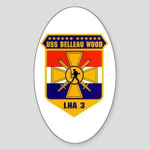 USS Belleau Wood LHA-3 Oval Sticker