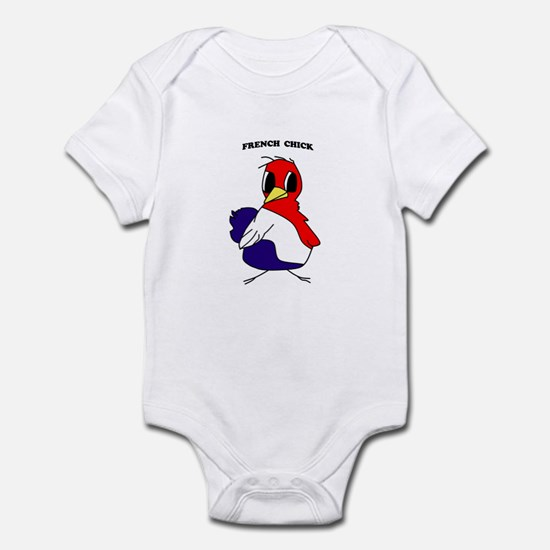 French Chick Captioned Infant Bodysuit
