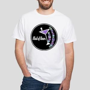 Retro Maid of Honor White T-Shirt