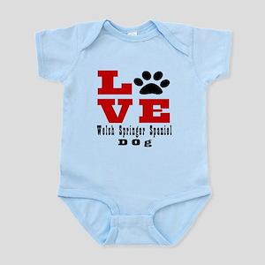 Love Welsh Springer Spaniel Dog De Infant Bodysuit