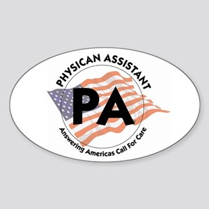 Patriotic PA Oval Sticker