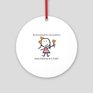 Leukemia Granddaughter - Ava Jade Ornament (Round)