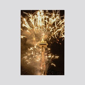 Fourth of July Fireworks Photo Rectangle Magnet
