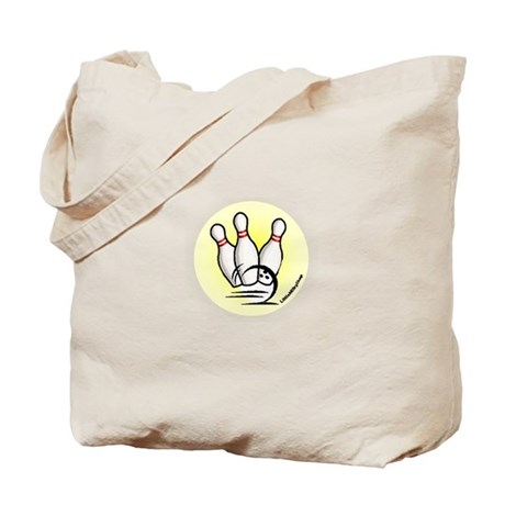 Strike the Bowling Pins Tote Bag