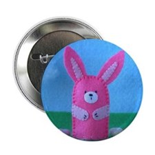 Stitched Bunny Button