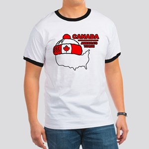 Funny Canada Ringer T