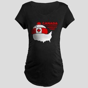Funny Canada Maternity Dark T-Shirt