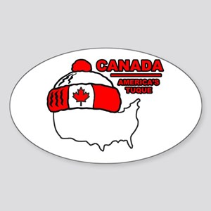 Funny Canada Oval Sticker