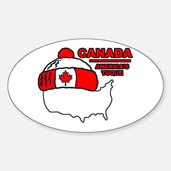 Funny Canada Oval Decal