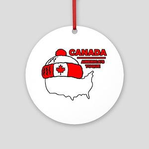 Funny Canada Ornament (Round)