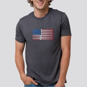 Field Hockey American Flag with Blue Balls T-Shirt