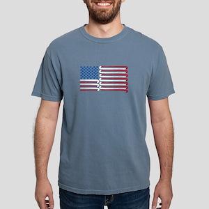 Field Hockey American Flag with Blue Balls T-Shirt