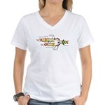 DNA Synthesis Women's V-Neck T-Shirt