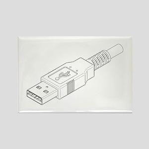 USB Plug Rectangle Magnet