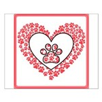Hearts and paw prints Posters