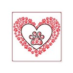 Hearts and paw prints Sticker