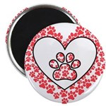 Hearts and paw prints Magnets